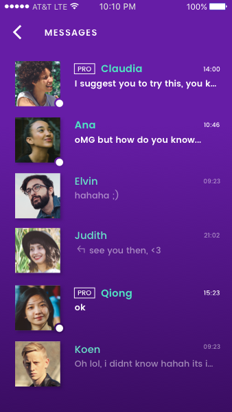 Language Exchange app